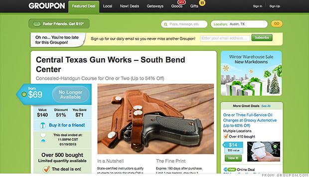 Groupon Gun Deals End