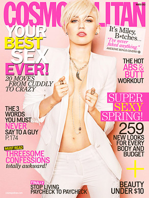 Miley Cyrus Goes BraLess Sexy Photoshoot For Cosmo