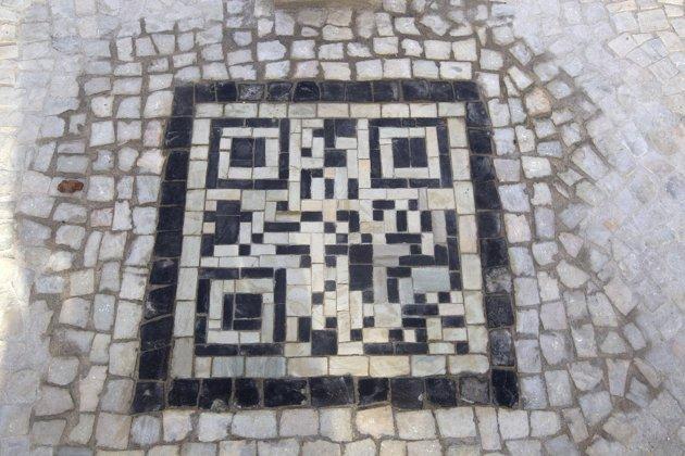 Bar codes on sidewalks