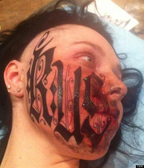 Face tattoo after first date