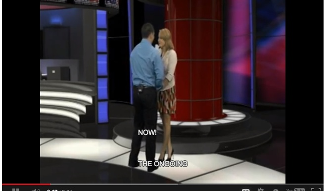 news anchor reads proposal