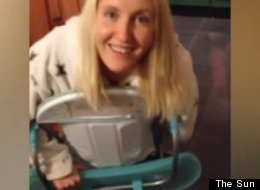 teenager trapped in baby highchair: