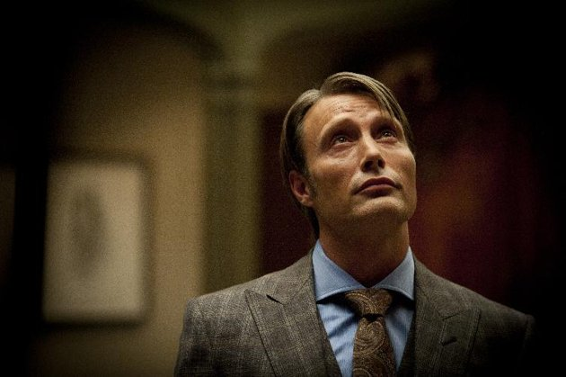 """Associated Press/NBC, Brooke Palmer - This publicity image released by NBC shows Mads Mikkelsen as Dr. Hannibal Lecter in a scene from the TV series, """"Hannibal,"""" airing Thursdays at 10 p.m. EST on NBC. NBC …more"""