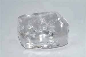 Christie's Images Limited 2013 via Bloomberg A flawless diamond before it is cut into a 101.73 carat shape. The gem was sold in Geneva and the buyer can name the stone.