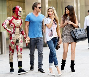 """Jaden Smith wears an """"Iron Man"""" costume while out with girlfriend Kylie Jenner in New York City on May 29, 2013. Credit: Felipe Ramales/PacificCoastNews.com"""