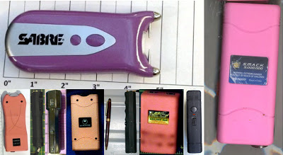 Stun Guns Discovered at (L-R) IAD, DTW, LAS, SMF, SFO, BWI, LAS, SJU, ABQ