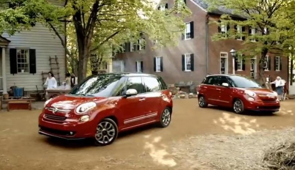 Fiat 500L models as seen in a new TV commercial. (Photo : YouTube)
