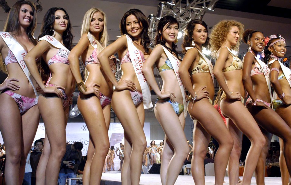 Miss World 2013 taking place in Indonesia implements a bikini ban during the swimwear competition. Contestants are banned from wearing bikinis and will sport a more traditional sarong. (Photo: Reuters)