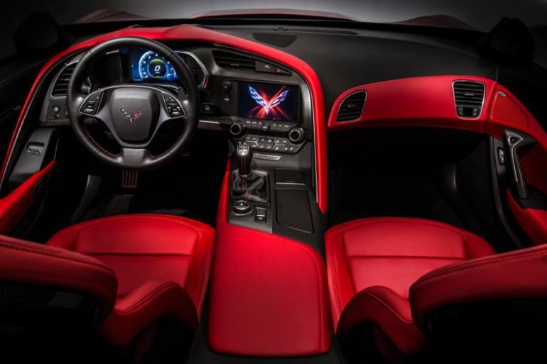 The 2014 Corvette Stingray Interior will include carbon fiber trim.  General Motors
