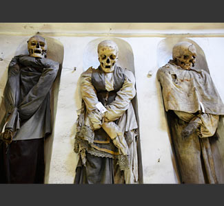 8000 mummies in Capuchin Catacombs In Palermo, Italy