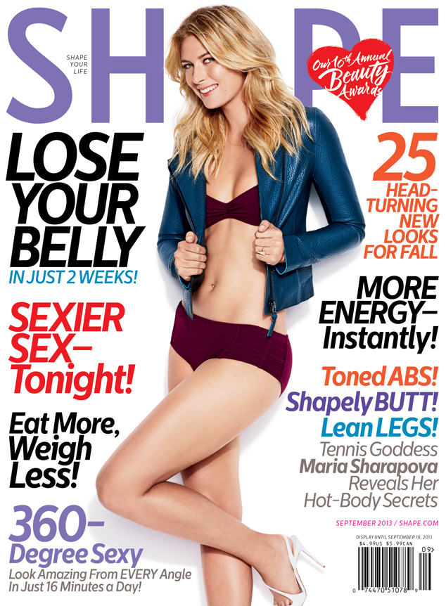 Maria Sharapova cover shape