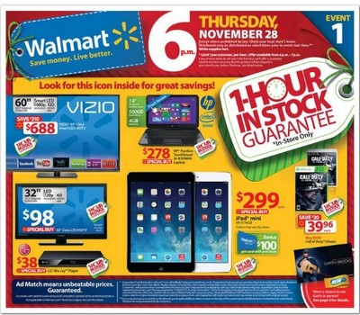 Walmart Black Friday 2013 sales ad leaked early