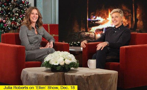 Julia Roberts Tells Ellen Degeneres She's Not Pregnant (PHOTO)