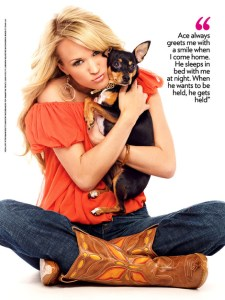 Carrie Underwood Mom to Pet Rat Terrier