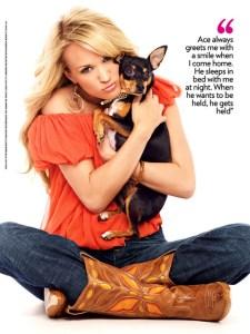 Carrie Underwood Mom to Pet Rat Terrier