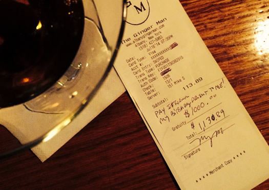 $1,000 tip ginger man:  Man Gets Massive Tip, Goes To Work Next Day