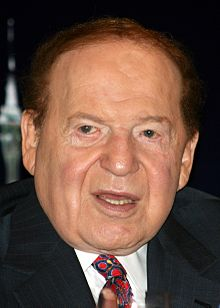 File:Sheldon_Adelson_21_June_2010.jpg Cropped from File:Sheldon Adelson 21 June 2010.jpg. Original description: Photo of Sheldon Adelson, chairman of Las Vegas Sands and Hong Kong-listed subsidiary Sands China. Photo taken 19 June 2010 in Hong Kong at a press conference held at the Four Seasons Hotel, following China Sands AGM.