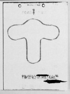 "A sketch of an object reported on Aug.31, 1949, over Sacramento, Calif. According to the Project Blue Book report, ""Observers sighted an object with short round nose, very short wings rounded at the tips. There was no trail or noise. It appeared as a dark object having a dull gray or silver finish. It was very fast."" (Photo: U.S. Air Force via theblackvault.com)"