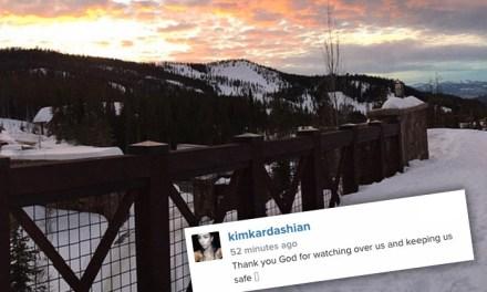 Kardashian car crash: Icy Roads Cause Kardashian Car Crash