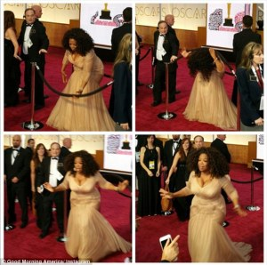 Oprah Winfrey security line: Oprah Able To Get Past Security At the Oscars
