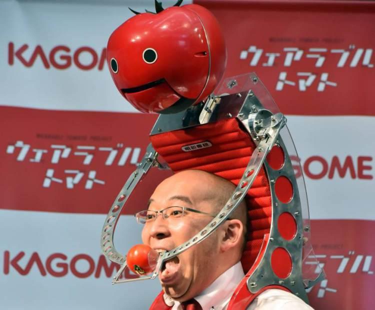 The Tomatan robot feeds runners tomatoes.9