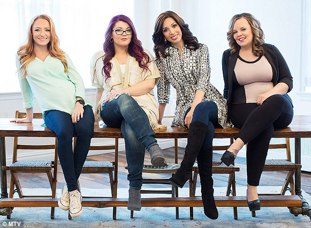 They're back: Farrah joins Maci Bookout, 23, Amber Portwood, 23, and Catelynn Lowell, 22 in MTV's spin-off series Teen Mom OG when it premieres on Monday