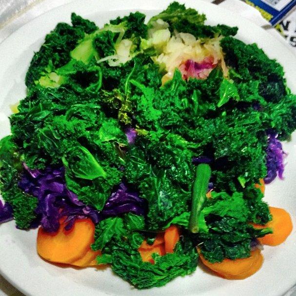 Sam Smith eats his veggies (Instagram)