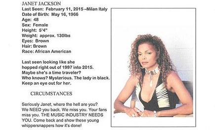 Janet Jackson Missing Poster Goes Viral (PHOTO)