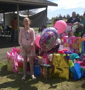 Mackenzie's parents had sent out invitations to several of her fourth grade classmates, but all but a neighbor and a cousin had canceled or did not RSVP Read more: http://www.dailymail.co.uk/news/article-3045341/Hundreds-people-flock-ten-year-old-girl-s-birthday-party-classmates-don-t-RSVP.html#ixzz3XrFPgxSD Follow us: @MailOnline on Twitter   DailyMail on Facebook