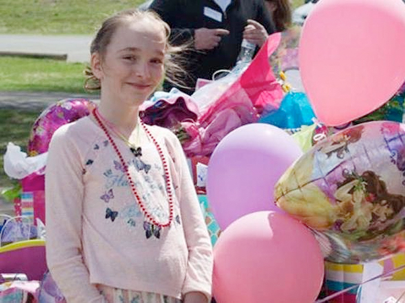 Mackenzie Moretter at her birthday party FACEBOOK