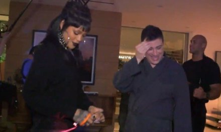 Rihanna pranks Kimmel:  See How Singer Pranked Talk Show Host