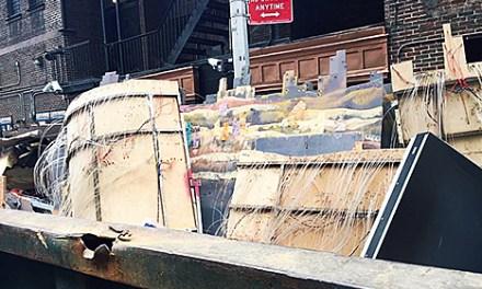 David Letterman Set Tossed In Dumpster After Finale
