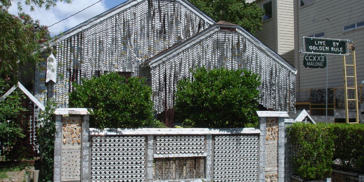 Outstanding The Beer Can House Man Makes House Made From Beer Cans Home Interior And Landscaping Mentranervesignezvosmurscom