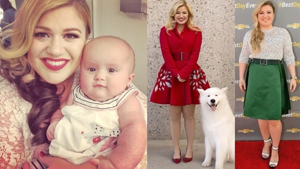 kelly Clarkson Rocks Cute Mini Dress,  Ignores haters
