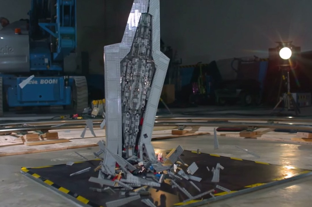 lego star destroyer shattered