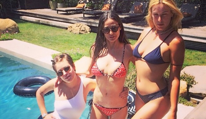 Demi Moore Rocks Bikini Body At 52
