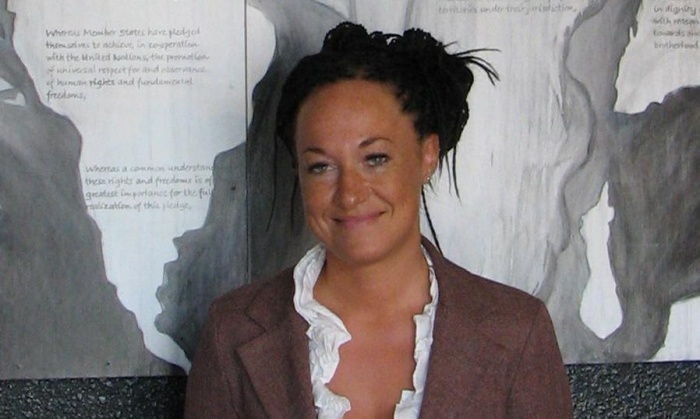 Rachel Dolezal is an academic and president of Spokane's chapter of African-American civil rights organisation the NAACP. Photograph: Nicholas K. Geranios/AP