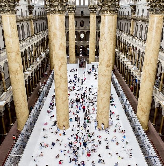 National Building Museum Opens Indoor Beach Using Plastic