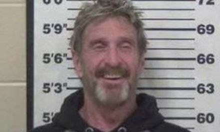 John McAfee Arrested:  Charged With DUI And Gun Possession