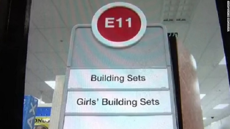 Target Gender Based Signs will be removed