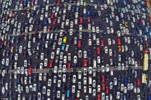 Patience is essential: The shocking scene was one of the many traffic nightmares across the country yesterday. Motorways in Shanghai and Nanjing also saw serious congestion