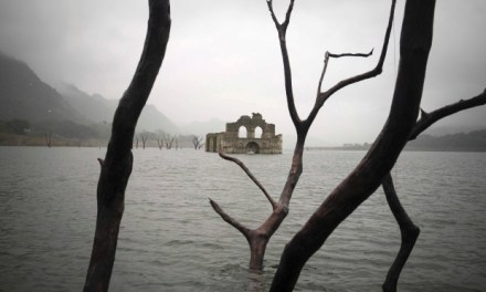 Church in Reservoir: 450-year-old  church  emerges From Reservoir (PHOTO)