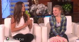 Danica Patrick Races Fan, Ellen And Justin Bieber
