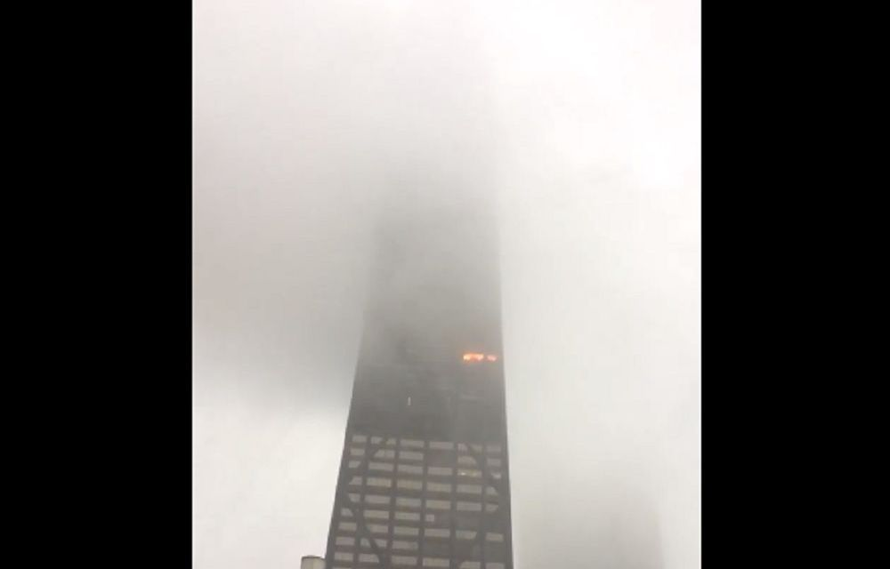 Hancock Skyscraper Fire Ends With 5 Injured (VIDEO)