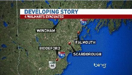 Maine Walmarts evacuated following multiple bomb threats