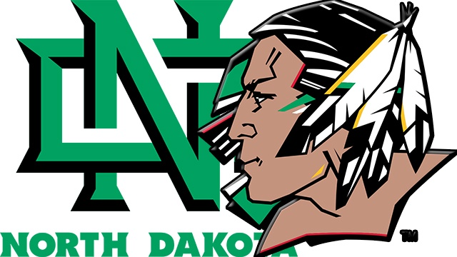 "north dakota new nickname is ""Fighting Hawks"