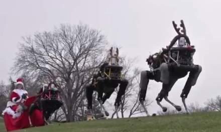 Robot Reindeer: military robots as reindeers  (VIDEO)