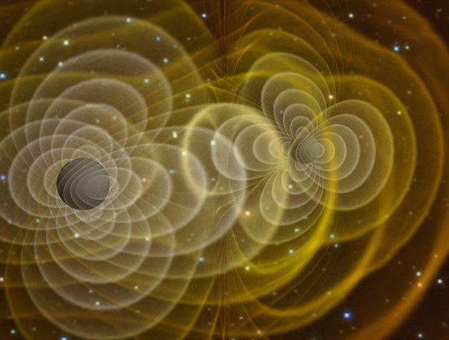 Gravitational waves are invisible ripples in the fabric of space and time caused by the movement of dense objects, like black holes. These waves spread out across the universe but have never been seen by scientists. Fresh rumours, however, suggest detectors in the US have picked up signals that may be gravitational waves