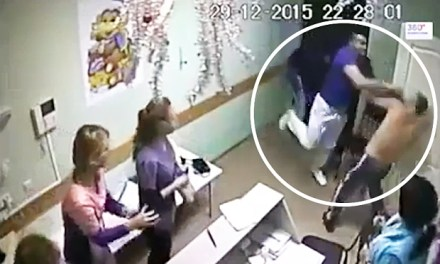 Russian doctor video:  Doctor Kills Patient With Single Brutal Punch