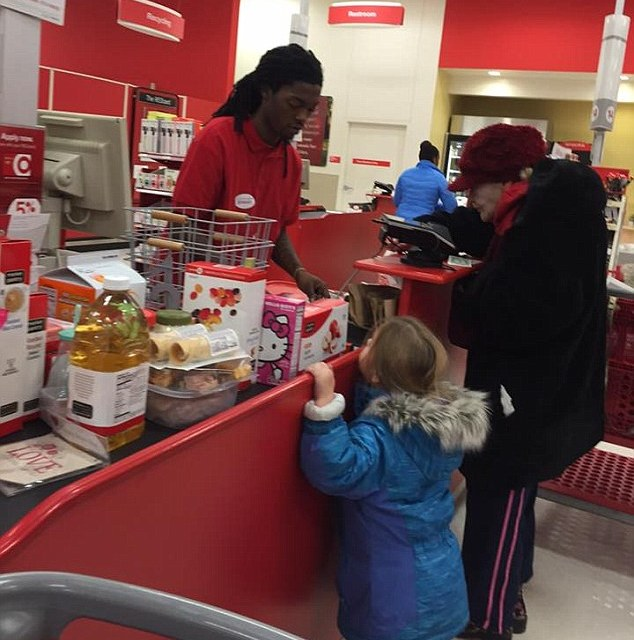 Target cashier kindness:  Act Of Pure Kindness Warms Hearts